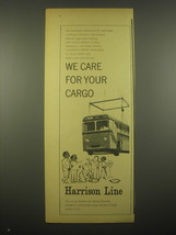 1966 Harrison Line Ad - We care - $14.99
