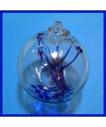 "Hanging Glass Ball 4"" Diameter ""Blue Ice Tree"" Witch Ball (1) GB16A - $16.83"