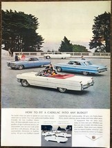 1964 Cadillac Print Ad How to Fit a Cadillac Into Any Budget - $10.75