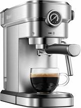 Brewsly 15 Bar Espresso Machine, Stainless Steel Compact Espresso Maker - $109.99
