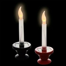 Christmas House Solar-Powered LED Window Candle, 6.25 in. Red Black w - $5.99
