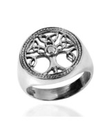 925 Sterling Silver Celtic Irish Knots Triquetra Tree of Life Ring - $21.95