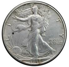 1918S Walking Liberty Half Dollar 90% Silver Coin Lot# A652 image 1