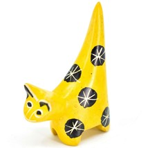 Vaneal Group Hand Crafted Carved Soapstone Tiny Miniature Yellow Cat Figurine image 2