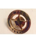 VTG WACO TEXAS Star Lapel Hat Pin Western Texas Badge Look Lapel Pin  - $19.79
