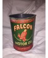 Vintage Falcon 1 QT Metal Motor Oil Can Gas Service Station Hollis OK GC... - $47.45