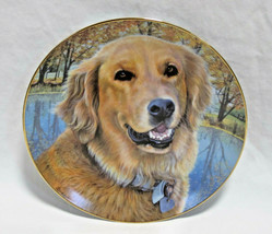 "Danbury Mint Golden Retriever Dog All Smiles Collector Plate - 8"" - $17.99"
