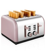 4 Slice Toaster, CUSIBOX Four Wide Slots Stainless Steel Toaster with RE... - $46.66