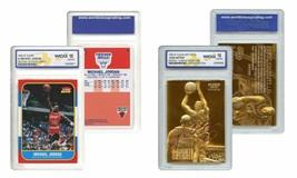 Michael Jordan & Kobe Bryant Dédicacé Débutant Fleer Débutant Lot Wcg Ge... - $29.38