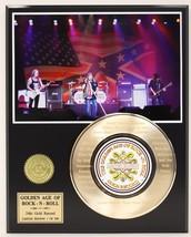 LYNYRD SKYNYRD GOLD 45 RECORD LIMITED EDITION LASER ETCHED W/ SONG LYRICS - $88.15