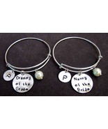 Grammy of the Groom Gift, Nanny of the Bride Gift, Wedding Charm Bangle ... - $34.00