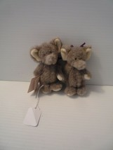 "Boyds Noah's Ark Plush 4""  PACKY & DERMAH Elephants Rare Mint With Tags ... - $14.85"