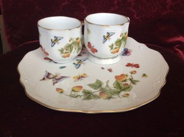 VTT Ardalt Lenwile Coffee Cups Bonus Sandwich Plate Butterfly Strawberry... - $13.10
