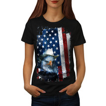 Eagle Cowboy Hat Flag USA Shirt Eagle Flag Women T-shirt - $12.99
