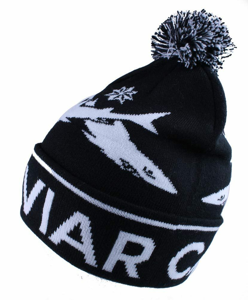 Caviar Cartel Shark Pom Beanie Black