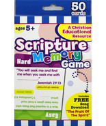 Scripture Memory Christian Flashcards Game NEW 50 Cards Ages 5+ - $8.73