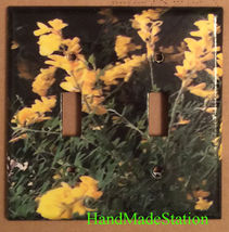Yellow Flowers flower Light Switch Outlet wall Cover Plate Home decor image 3