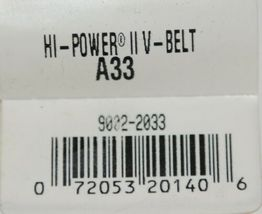 Gates A33 Hi Power II V Belt 9002 2033 Outside Circumference 35 Inch image 5
