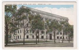 Court House Flint Michigan 1928 postcard - $5.94
