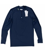 Lacoste Sport 1/4 Zip Long Sleeve Compression Shirt Blue Stretch Ultra D... - $59.99