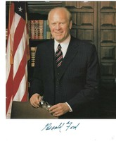Private Owner President Gerald Ford Signed 8x10 Photo Photograph Blue Ma... - $62.89