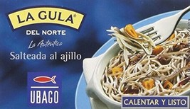 Gulas Elvers With Garlic Angula Gourmet Canned 3 Units Spices of the World - $39.99