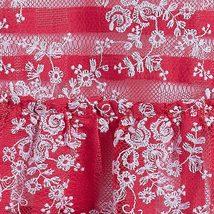 Mayoral Little Girls 2T-9 Floral Embroidered Stripe Lace Social Dress image 3