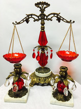Vintage Decorative Justice scale with candle Holder - $249.98