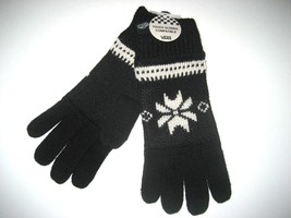 Vans Shoes Campfire Winter Wool Blend Texting Gloves Black White OSFA NWT - $18.76