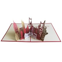 New York City Silhouette--3D Greeting Card, Pop Up Card, Pop Out Card - $6.46