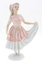 German Porcelain Wallendorf Girl in Dress Retro - $137.19