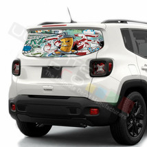 Sticker Bomb Skin Rear Window See Thru Stickers Perforated for Jeep Renegade  - $59.80