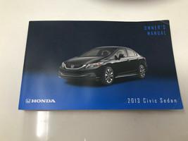 2013 Honda Civic Sedan Owners Manual Handbook OEM Z0J15 - $19.19