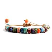 ZMZY Boho Style Handmade Colorful Multi Bracelet Natural Stone Chakra Bracelet D - $15.81