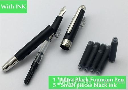 MB Ultra Black Classique Fountain Pen matte precious resin with ruthenium-coated