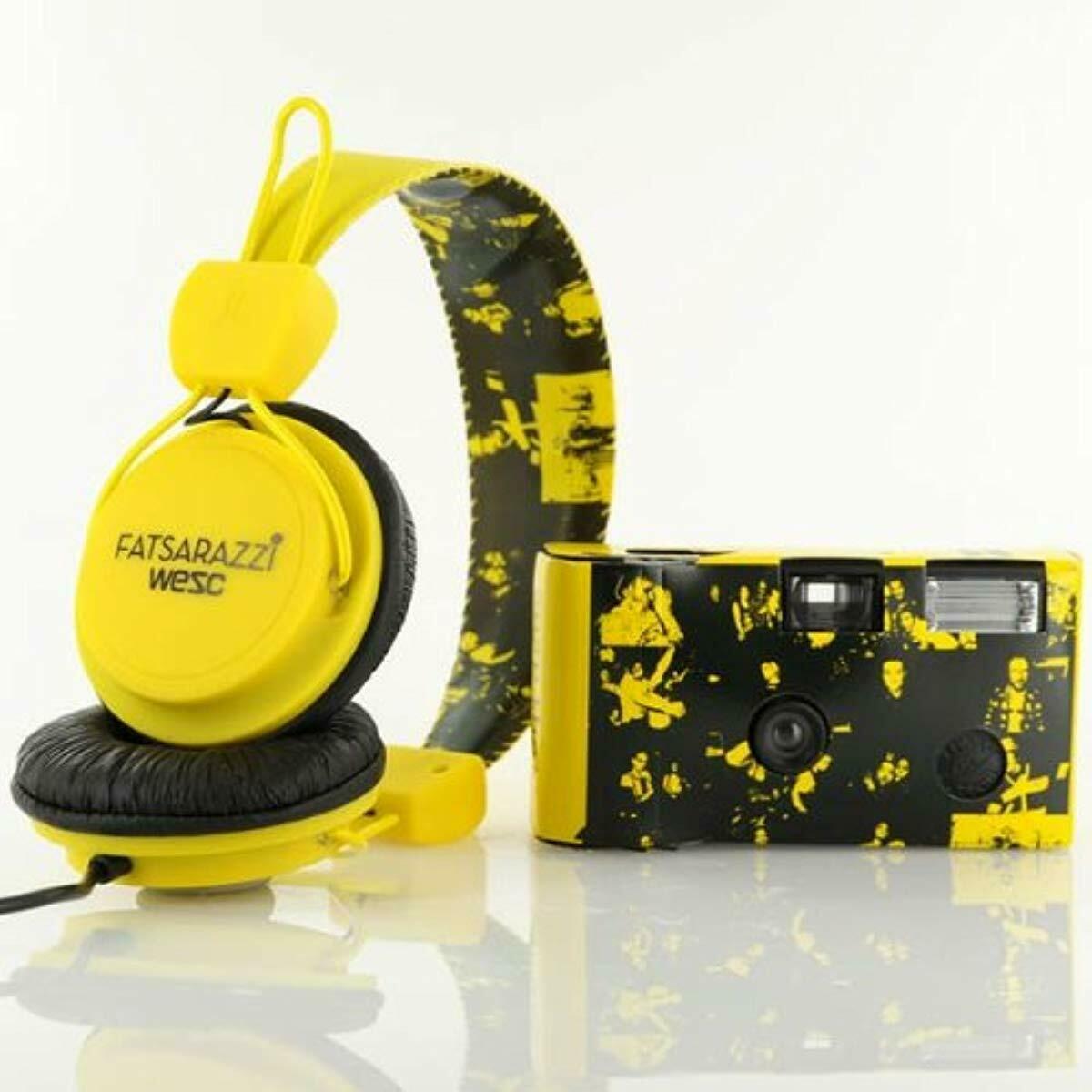 WeSC X Fatsarazzi Collab Premium Headphones + disposable Camera B105504205 NIB