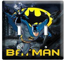 Batman Forever Superhero Double Light Switch Wall Plate Cover Boys Bedroom Decor - $14.99