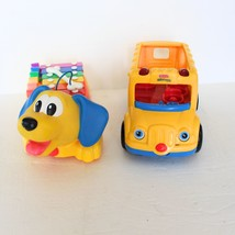Fisher Price Lot Dog Xylophone Little People School Bus 2002 Toys Musica... - $14.84