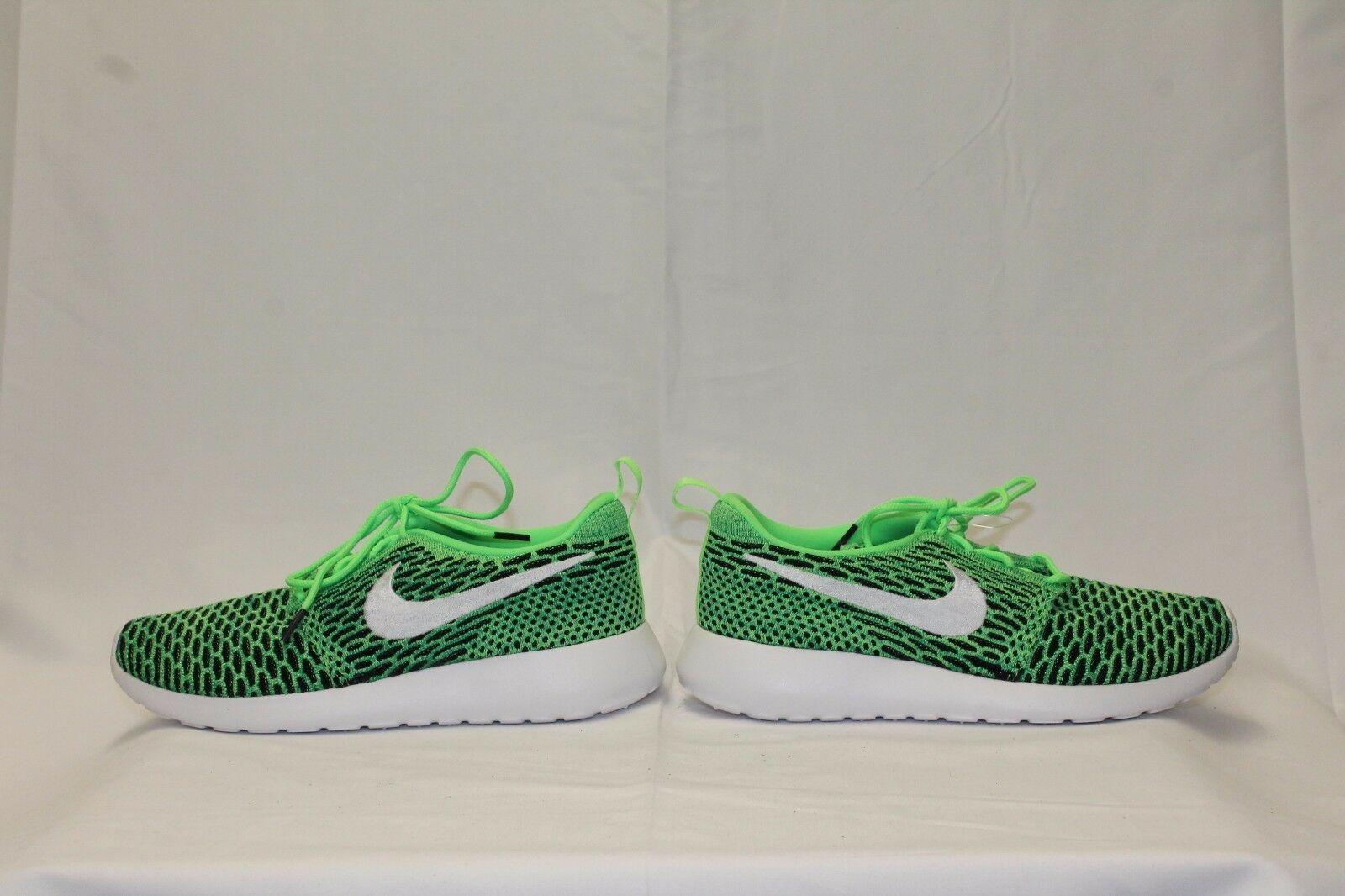 Women's Nike FlyKnit Roshe Running Sneakers NEW Green/Black, MSRP $100