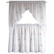 George Jimmy Sweet Embroidered Curtain Kitchen Curtain Coffee Screen-A Set - $26.24