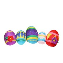 Northlight 10' Inflatable Lighted Easter Eggs Outdoor Decoration - £58.94 GBP