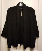 Ann Taylor Peplum Open Front Cardigan, Black, Wool Blend, Size M, NWT - €48,63 EUR