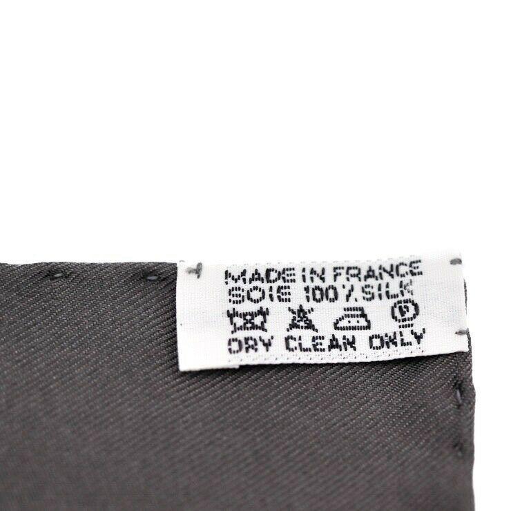 Hermes Puchikare Carre 45 FEUX DE LHIVER silk gray apparel Auth