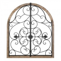 Arched Wood And Iron Wall Dcor - $120.53