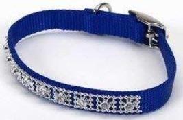Coastal Pet Products DCP320110BLU Nylon Jeweled Dog Collar, 10-Inch, Blue - $14.36