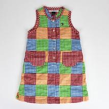 436bb6d19 Tommy Hilfiger Girls Sz 5 Vtg Patchwork Gingham Sleeveless Dress Multico...  - $9.99