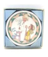 Precious Moments Children's Christmas Pageant Nativity Mini Plate Orname... - $6.85