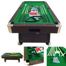 7' Feet Billiard Pool Table Snooker Full Set Accessories Game mod. Green... - $999.00