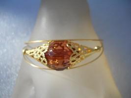 Gold Cuff Bracelet w/ Crystal Stone Fashion Jewelry - $17.99