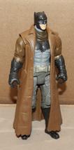 "Batman Dawn of Justice Action Figure Trench Coat Dark Batman 6"" Mattel 225D - $12.49"